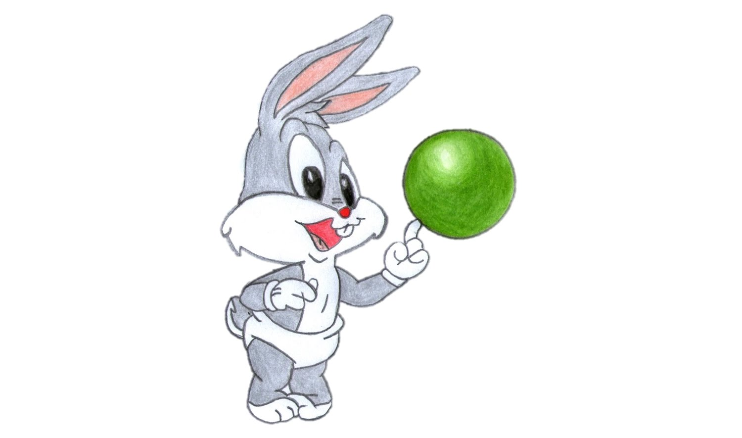 1500x885 How To Draw Baby Bugs Bunny (Looney Tunes)