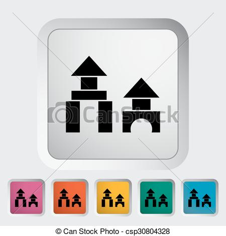 450x470 Building Block Icon. Flat Vector Related Icon For Web
