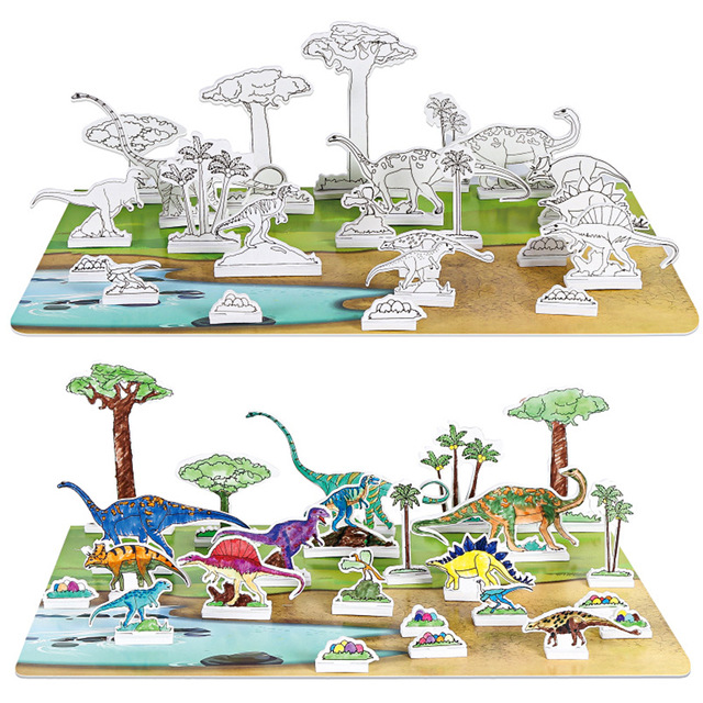 640x640 3d Drawing Puzzle Dinosaur Building Blocks Toy For Children