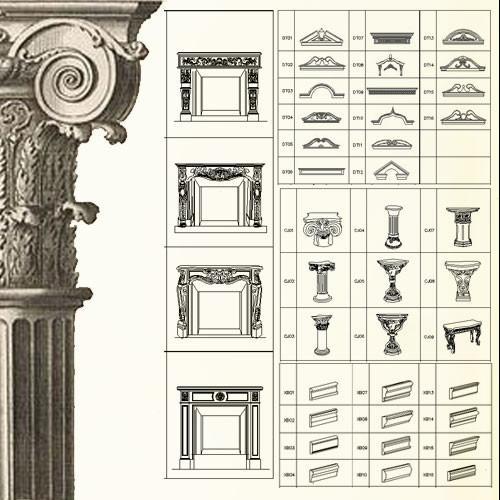 500x500 Ornamental Parts Of Buildings 6 Cad Design Free Cad Blocks
