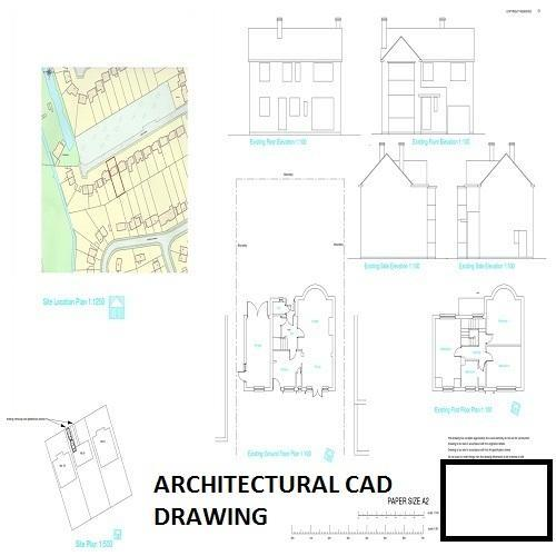 500x500 Architectural Cad Drawing Service In Satellite, Ahmedabad, Hi Tech