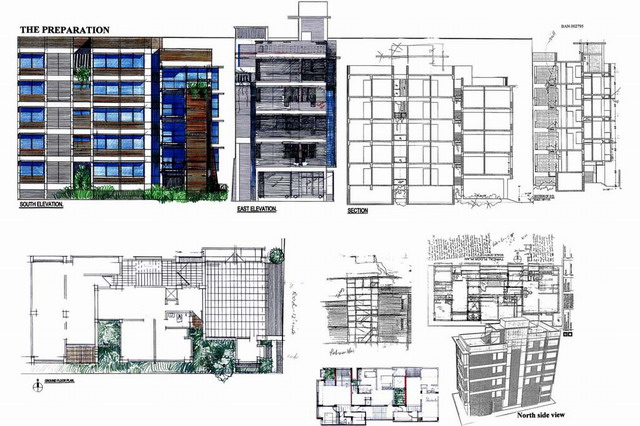 Building Drawing Plan Elevation Section : Building elevation drawing at getdrawings free for