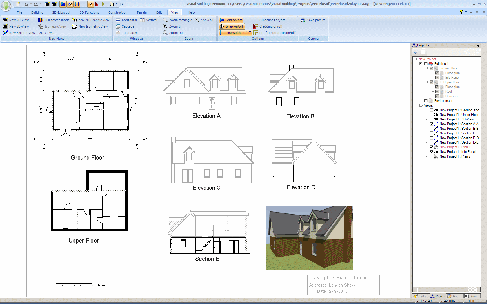 House Elevation Plan Software : Building plan drawing at getdrawings free for