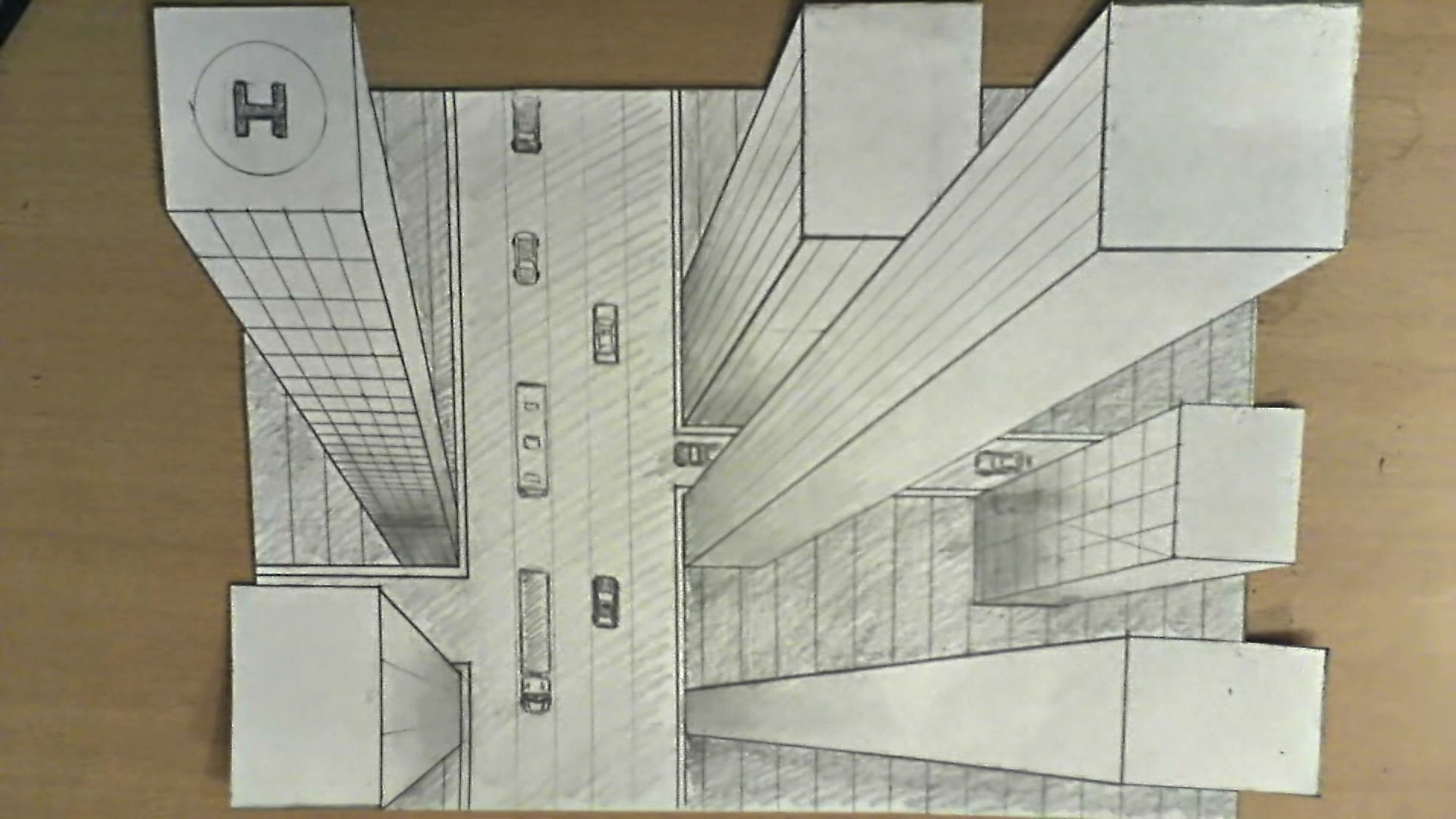 1920x1080 One Point Perspective Drawing Buildings How To Draw