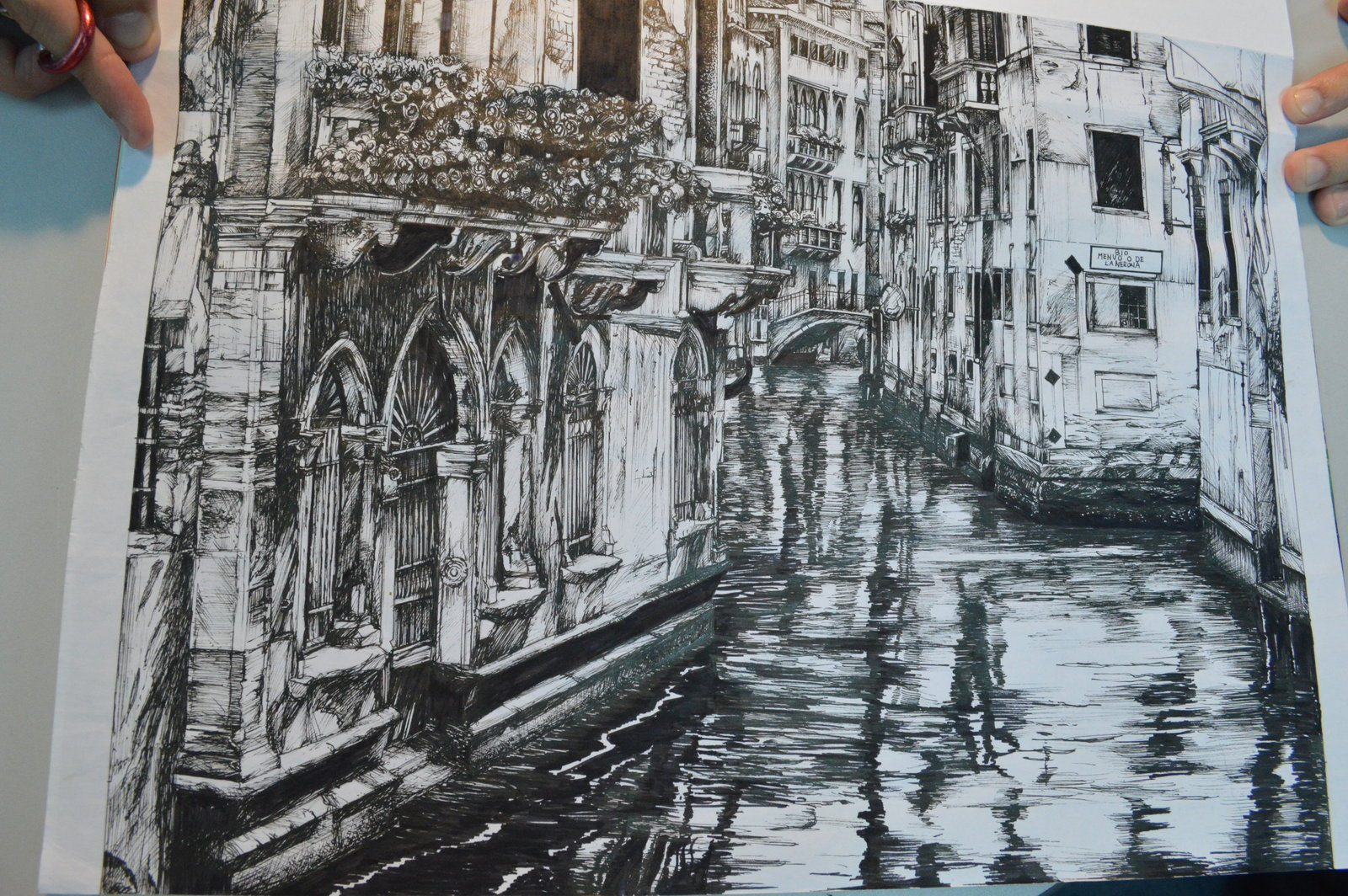 1600x1064 Perspective Of Drawing Building Artwork Venice By Lemonkudamono