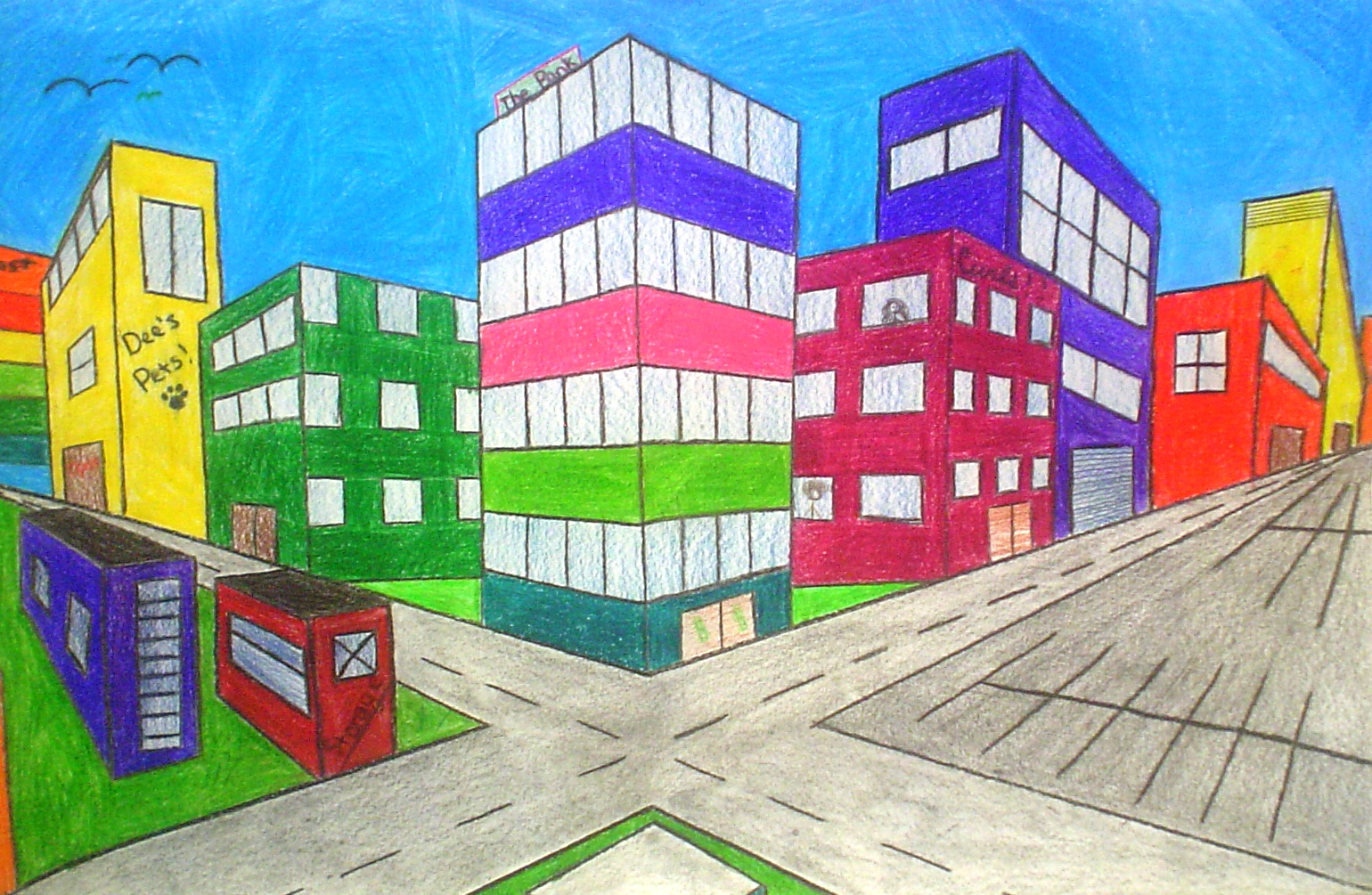 1540x1005 Two Point Perspective Drawings Lessons From The K 12 Art Room