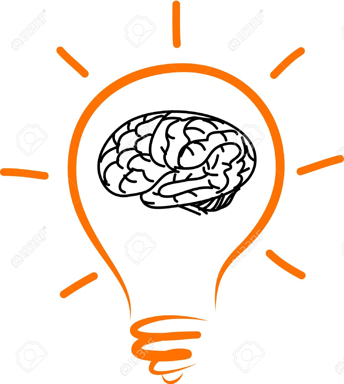 1164x1300 Drawing Light Bulb Brain In Side Royalty Free Cliparts, Vectors