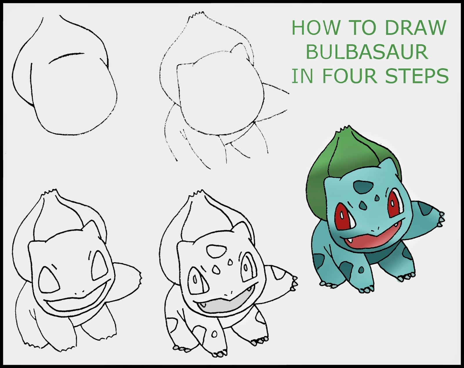 1600x1270 How To Draw Bulbasaur (In Four Stages) Daryl Hobson Artwork