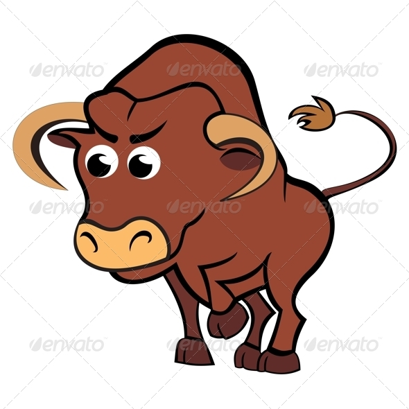 590x590 Cartoon Bull By Oxygen64 Graphicriver