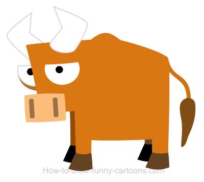 400x356 Drawing A Bull Cartoon
