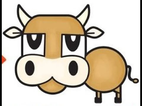 480x360 How To Draw A Cartoon Bull Cow From Numbers 55
