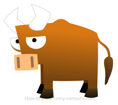 400x356 Drawing A Bull Cartoon