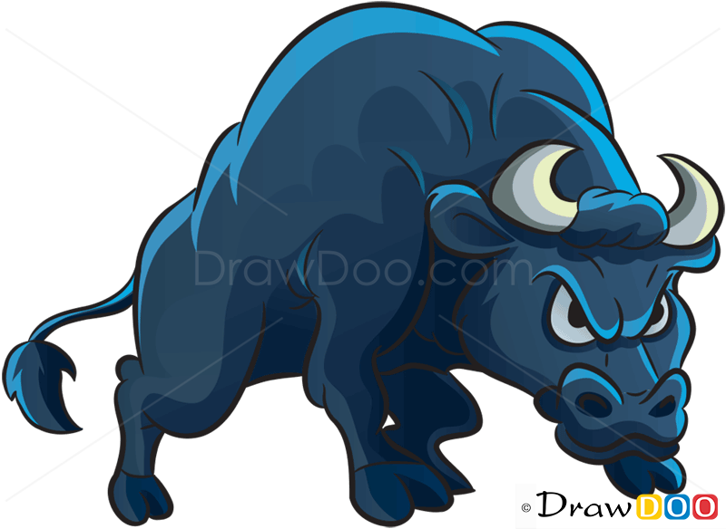 800x584 How To Draw Angry Bull, Farm Animals
