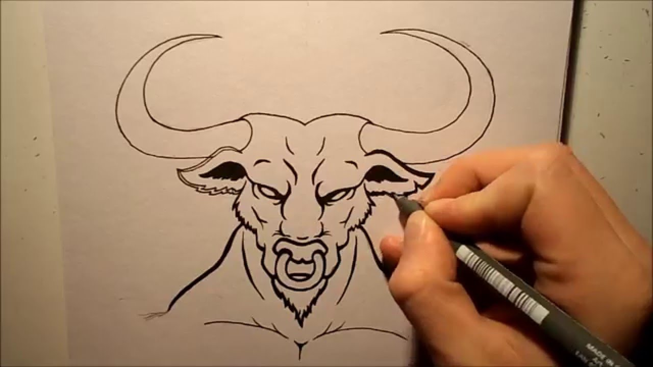 1280x720 How To Draw A Bull