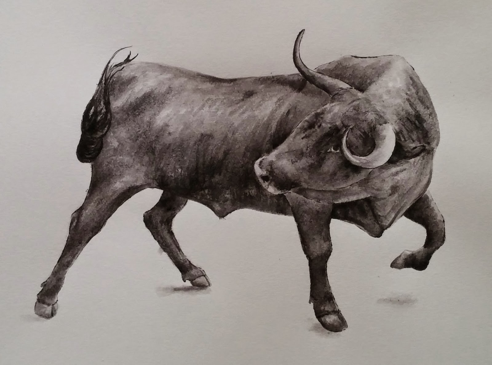 1600x1188 Masseu Learns To Sketch Bull Drawing Painting