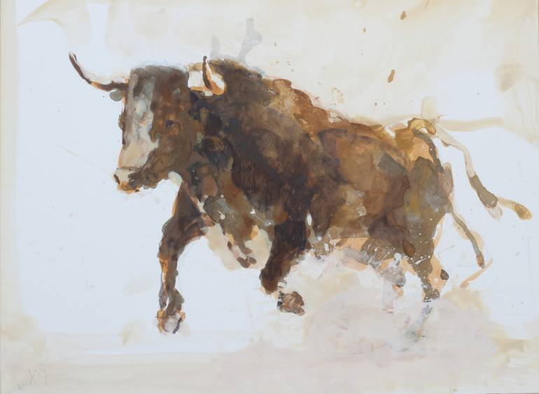 770x564 Saatchi Art Bull Sketch A17 005 Drawing By Bert Van Zelm