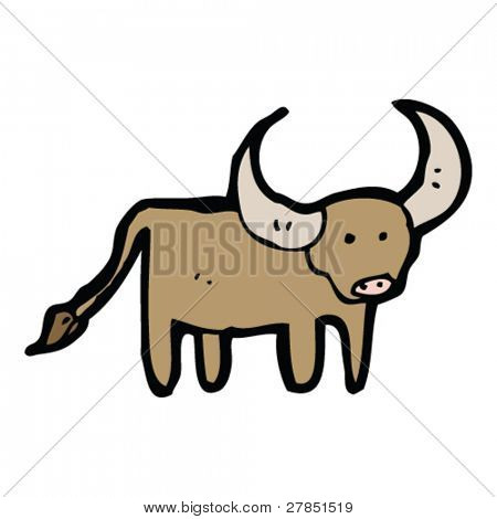 450x470 Horned Bull Drawing Vector Amp Photo Bigstock