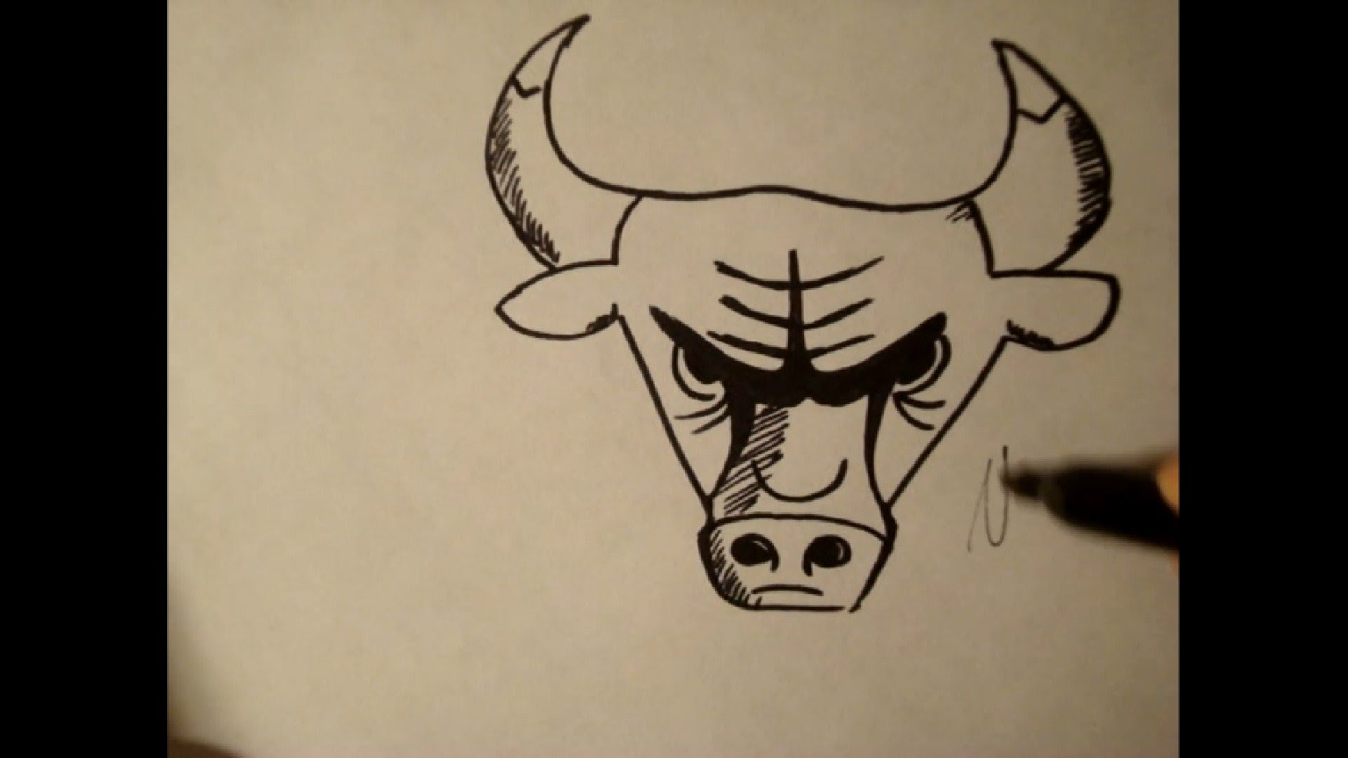 1920x1080 How To Draw Chicago Bull Logocowstep By Step