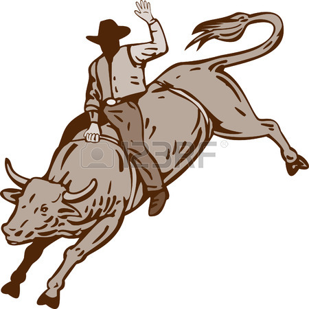 450x450 355 Bull Riding Cliparts, Stock Vector And Royalty Free Bull