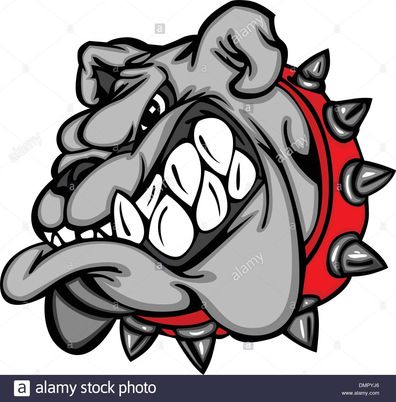 1300x1319 Bulldog Cartoon Face Vector Illustration Stock Vector Art