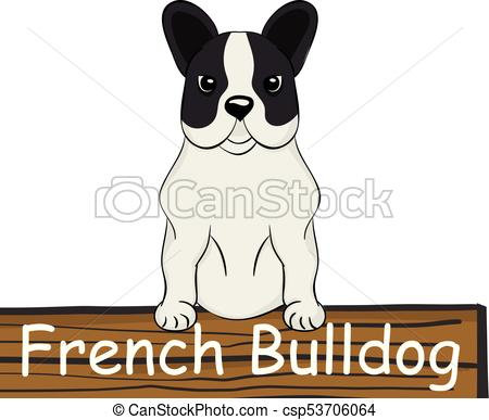 450x387 French Bulldog Cartoon Dog Icon Isolated On White Background Clip
