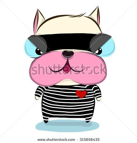 450x470 Inspirational Vector Illustration Of Cute Bulldog Cartoon Drawing