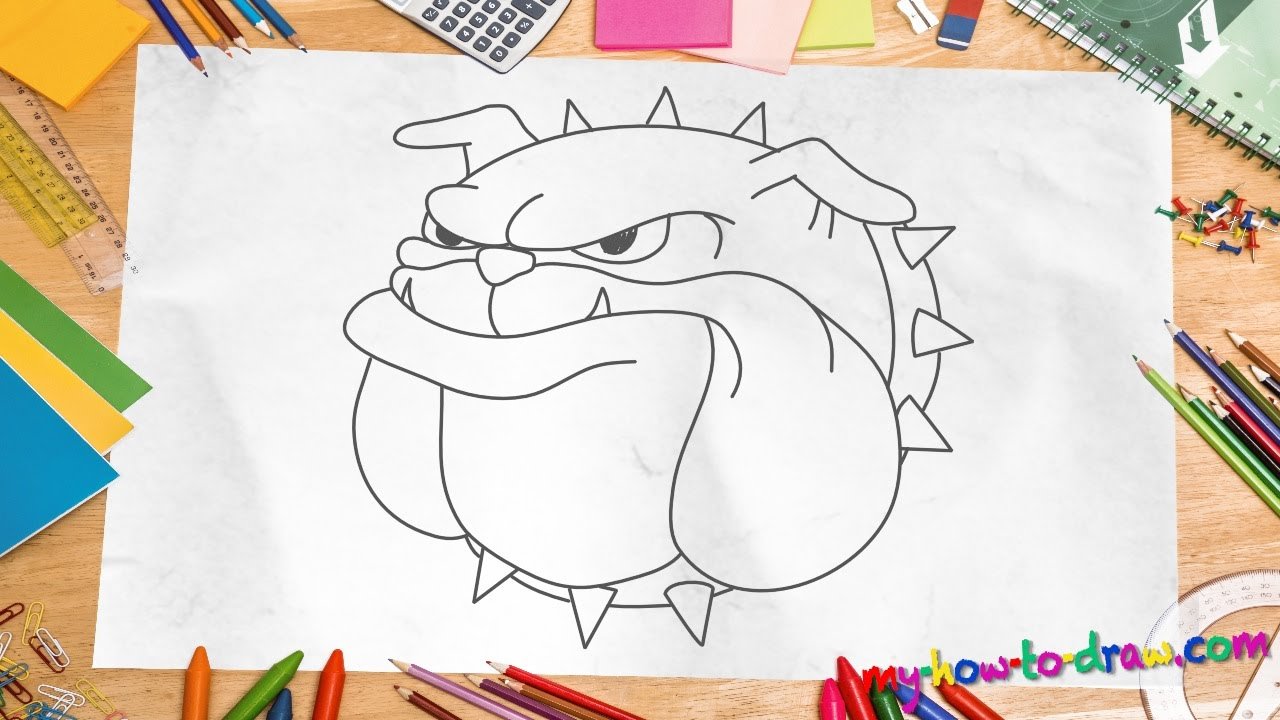 1280x720 How To Draw A Bulldog