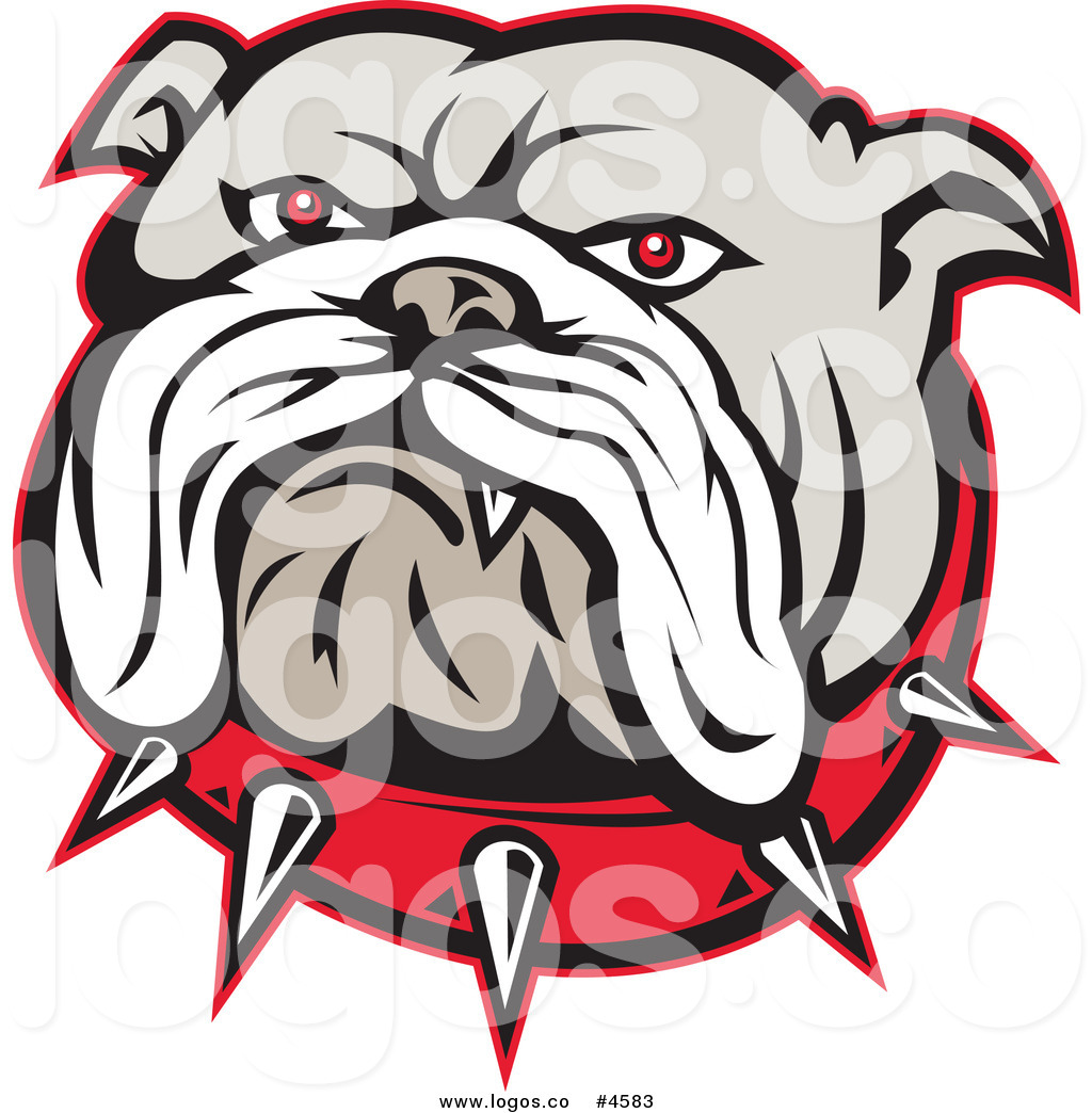 1024x1044 Royalty Free Bulldog Face And Spiked Collar Logo By Patrimonio