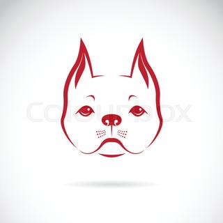 320x320 Vector Of A Dog Face On A White Background. Bulldog. Animal Logo