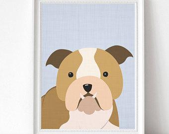 340x270 Bulldog Drawing Etsy