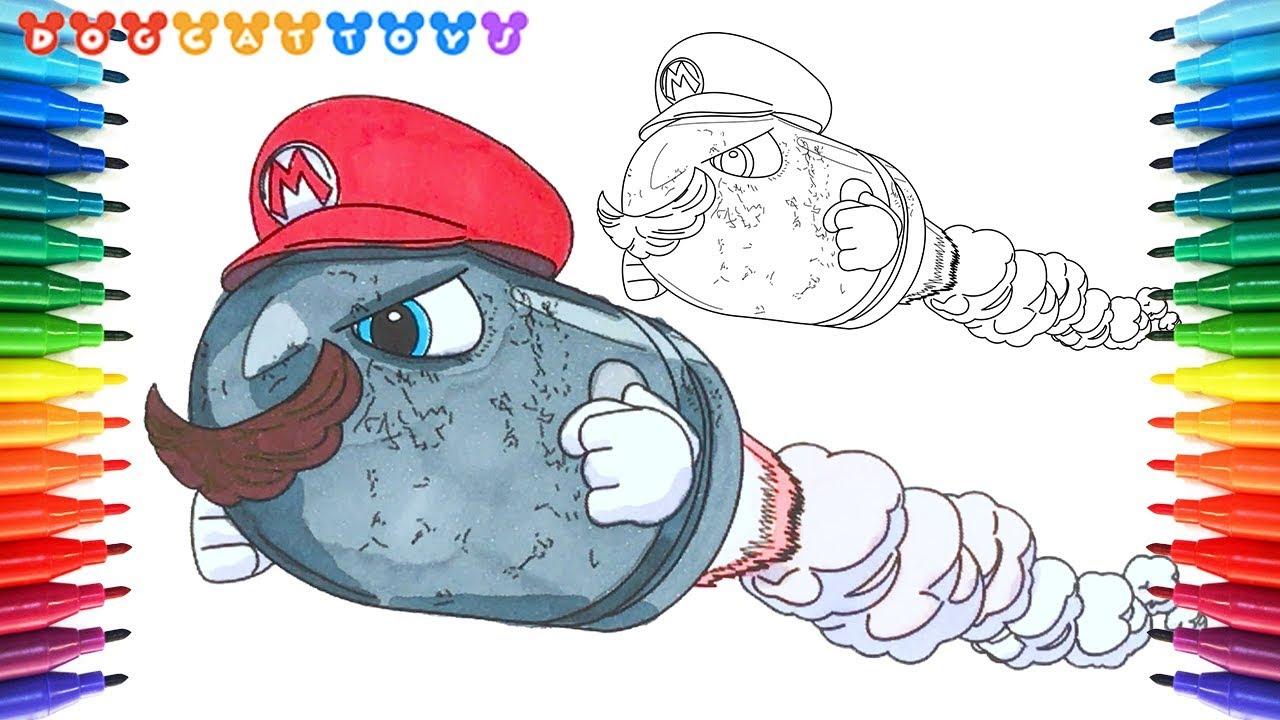 1280x720 How To Draw Super Mario Odyssey, Bullet Bill Mario
