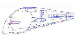 302x145 How To Draw A Bullet Train Step 7 Trains Bullet