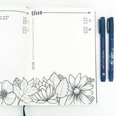 236x236 How To Draw Flower Bujo Bullet Journal. @alichristin4