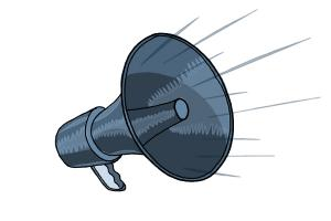 300x200 How To Draw A Megaphone