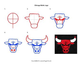 350x271 Chicago Bulls Logo Drawing By Miss Artrageous Teachers Pay Teachers