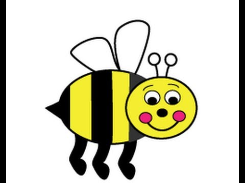 480x360 Webby Wanda How To Draw A Cartoon Honey Or Bumble Bee Easy Step