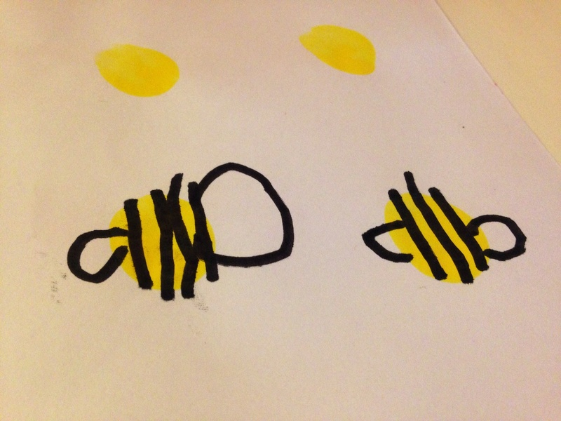 800x600 Preschooler Bumble Bee, Bumble Bee, Drawing A Bee, Bee Craft