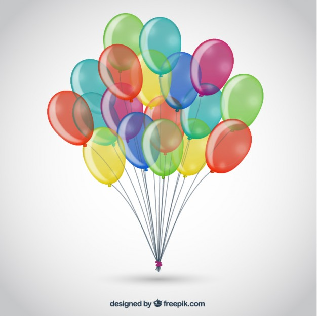 626x625 Bunch Of Colorful Balloons Vector Free Download