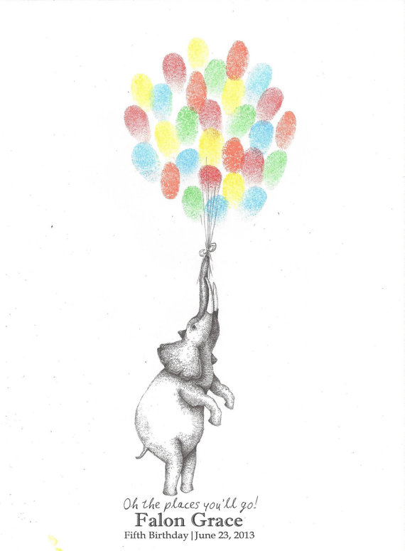 570x775 Elephant Holding A Bundle Of Balloons In His Trunk