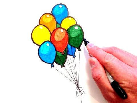 480x360 How To Draw Balloons