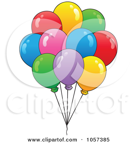 450x470 Lots Of Balloonss Clipart