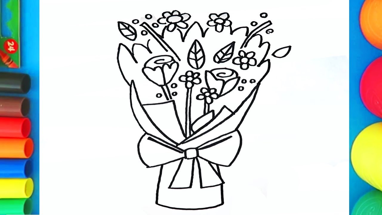 Bunch of roses drawing at getdrawings free for personal use 1280x720 how to draw a bouquet of roses flowers izmirmasajfo Choice Image