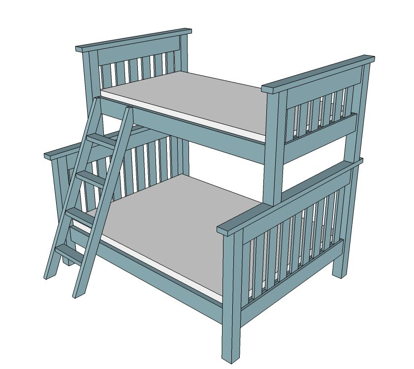 841x751 Ana White Build A Twin Over Full Simple Bunk Bed Plans Free