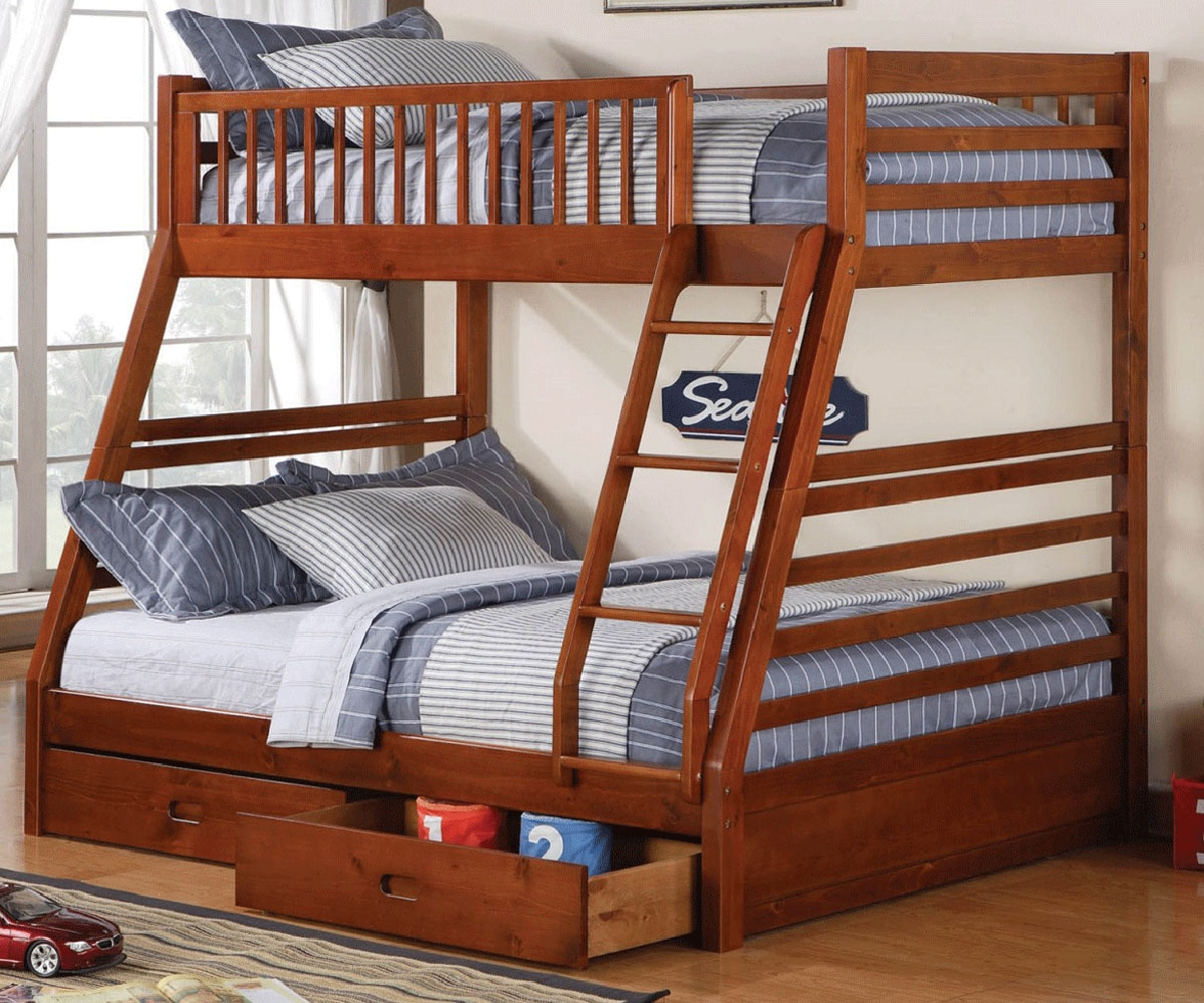 1200x1000 Sedona Twin Over Full Bunk Bed W Drawers Bedroom Furniture, Beds