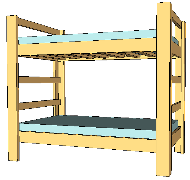644x611 Twin Bunk Beds Jays Custom Creations