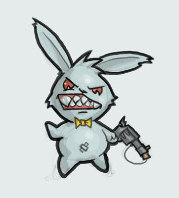 362x400 Critter Cartoon Learn To Draw Cartoon Angry Bunny Rabbit Step By