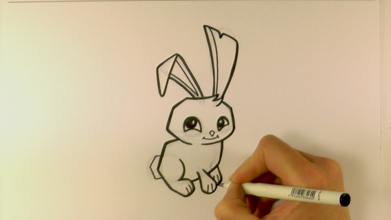 Simple Line Drawings Of Animals : Bunny cartoon drawing at getdrawings free for personal use