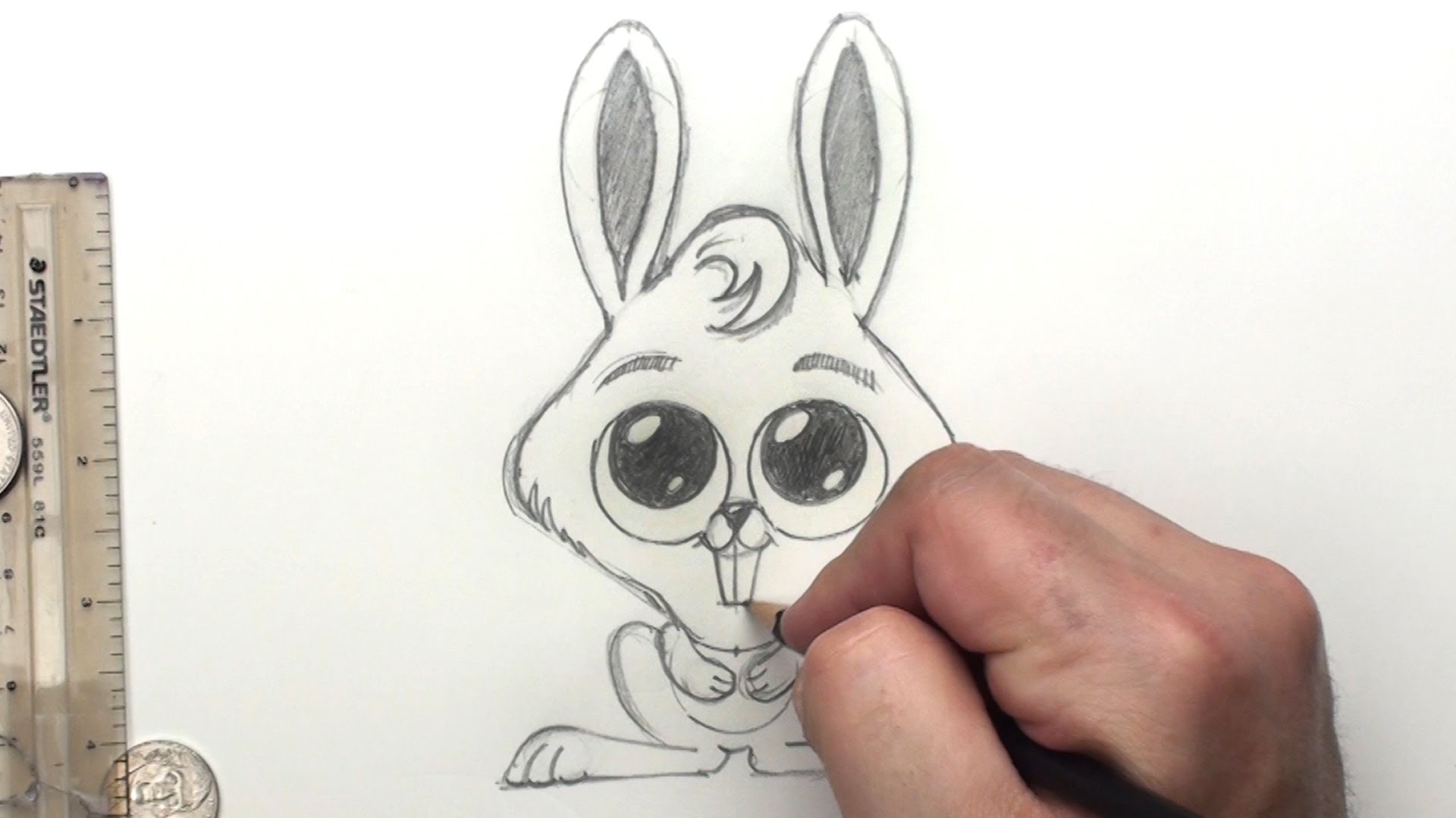 1920x1080 How To Draw A Bunny Rabbit