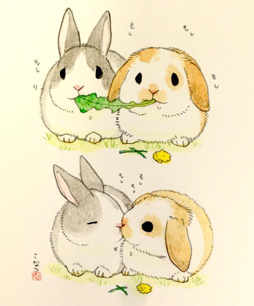 850x1024 On Kawaii, Bunny And Rabbit