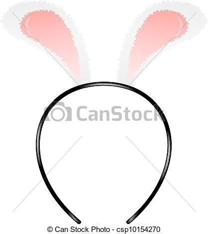 418x470 Bunny Ears (Headband) Isolated On White Background Vectors